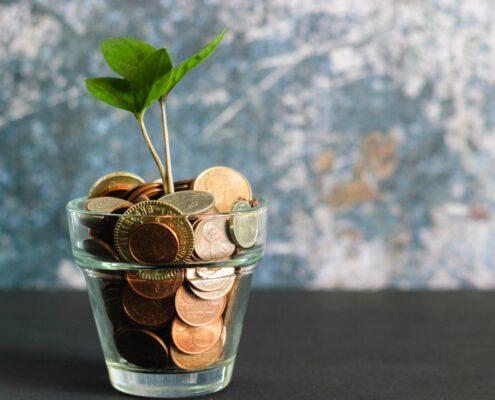 Kleingeld im Glas